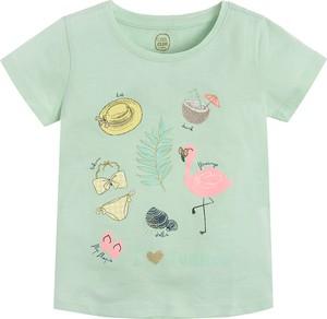Zielona bluzka dziecięca Cool Club dla dziewczynek