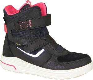 Czarne buty dziecięce zimowe Ecco dla chłopców