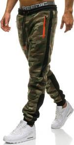 Zielone spodnie sportowe denley w street stylu