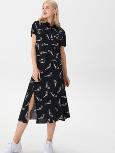 Czarna spódnica House w młodzieżowym stylu midi