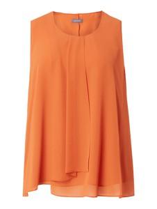 Pomarańczowa bluzka Samoon z okrągłym dekoltem z szyfonu