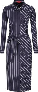 Sukienka Hugo Boss w stylu casual z długim rękawem midi