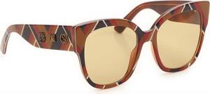 Pomarańczowe okulary damskie Gucci