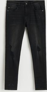 Czarne jeansy Reserved w stylu casual z jeansu