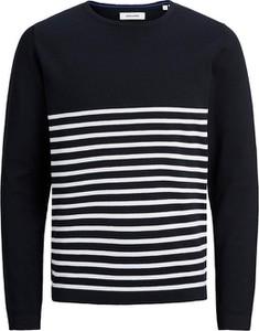 Czarny sweter Jack & Jones z okrągłym dekoltem