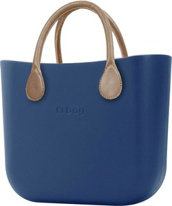 Niebieska torebka O Bag w wakacyjnym stylu do ręki duża