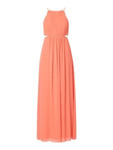 Pomarańczowa sukienka Jake*s Cocktail z szyfonu bez rękawów