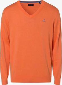 Pomarańczowy sweter Gant z bawełny