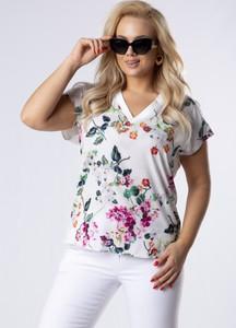 Bluzka Ptakmoda.com z krótkim rękawem w stylu casual