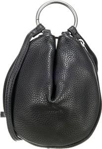 Czarna torebka Fritzi aus Preußen ze skóry w stylu casual średnia