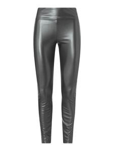 Czarne spodnie Wolford ze skóry ekologicznej
