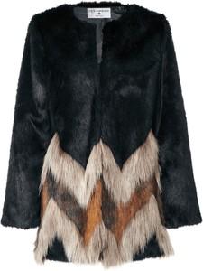 Czarny płaszcz Heine w stylu boho
