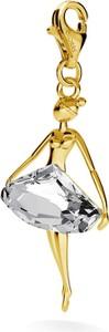 GIORRE SREBRNY CHARMS BALETNICA TANCERKA SWAROVSKI 925 : Kolor kryształu SWAROVSKI - Crystal, Kolor pokrycia srebra - Pokrycie Żółtym 24K Złotem