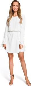 Sukienka Merg z okrągłym dekoltem mini