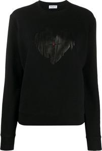 Czarna bluza SAINT LAURENT z bawełny