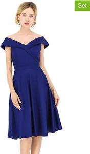 Sukienka Michel Laprele z dekoltem w kształcie litery v