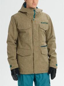 Zielona kurtka Burton w stylu casual