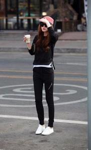 Czarne spodnie sportowe Yaze z dresówki