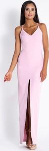 Sukienka Dursi na ramiączkach maxi z dekoltem w kształcie litery v