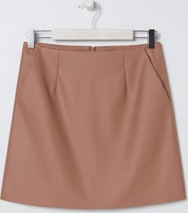 Fioletowa spódnica Sinsay mini ze skóry ekologicznej