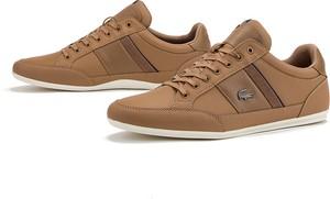 Brązowe buty sportowe Lacoste sznurowane