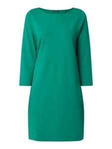 Zielona sukienka Marc O'Polo z długim rękawem z okrągłym dekoltem