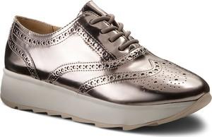 Srebrne buty sportowe geox na koturnie