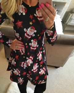 Sukienka Kendallme z długim rękawem z okrągłym dekoltem mini