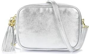 Srebrna torebka producent niezdefiniowany matowa na ramię w stylu boho
