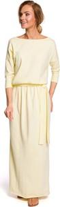 Żółta sukienka MOE z bawełny