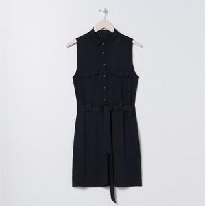 Czarna sukienka Sinsay mini szmizjerka w stylu casual