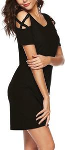 Czarna sukienka Cikelly mini z dresówki