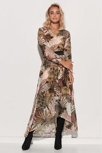 Sukienka Makadamia z dekoltem w kształcie litery v maxi