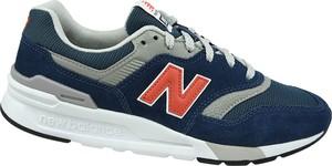 Granatowe buty sportowe New Balance sznurowane z zamszu