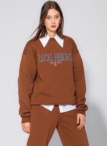 Brązowa bluza LOCAL HEROES z bawełny