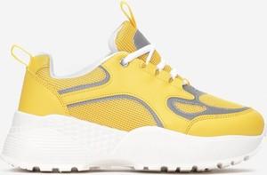 Żółte buty sportowe Multu sznurowane