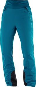 Turkusowe spodnie sportowe Salomon