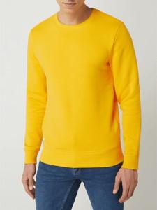 Żółta bluza Montego z bawełny w stylu casual