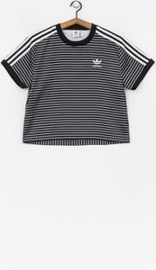 T-shirt Adidas Originals z okrągłym dekoltem z krótkim rękawem z satyny