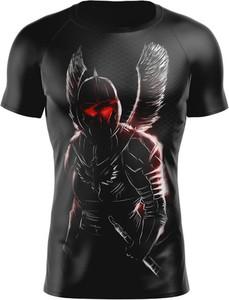 Czarny t-shirt Vision Wear Sport z nadrukiem z tkaniny