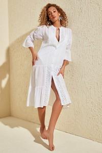 Sukienka Trendyol midi z długim rękawem w stylu casual