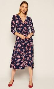 Sukienka Ralph Lauren z długim rękawem z dekoltem w kształcie litery v midi