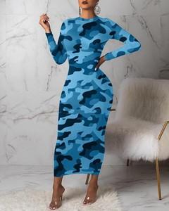 Sukienka Kendallme z długim rękawem z okrągłym dekoltem