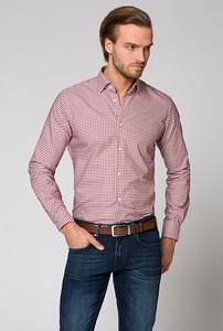 Różowa koszula LANCERTO z długim rękawem