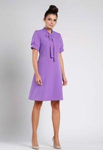 Fioletowa sukienka Nommo trapezowa mini
