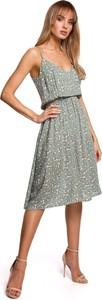 Sukienka MOE z tkaniny na ramiączkach midi