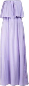 Fioletowa sukienka Multu z dekoltem w kształcie litery v