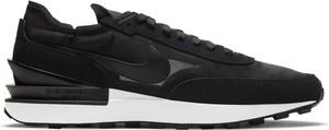 Czarne buty sportowe Nike sznurowane z zamszu w sportowym stylu
