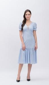 Sukienka Justmelove midi z bawełny z dekoltem w kształcie litery v