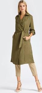 Zielony płaszcz Guess